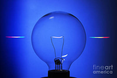 Photograph - Lightbulb Seen Through Diffraction by GIPhotoStock