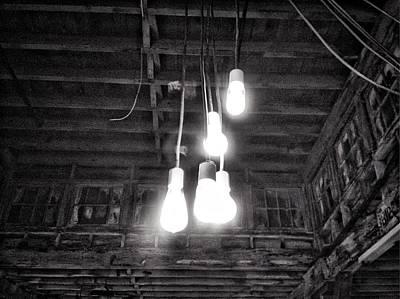 Lightbulbs Art Print by H James Hoff