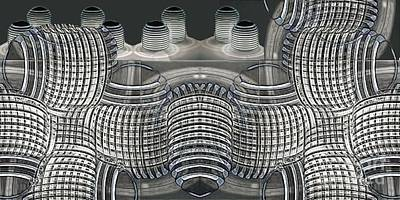Diffuser Digital Art - Lighted Coils by Ron Bissett