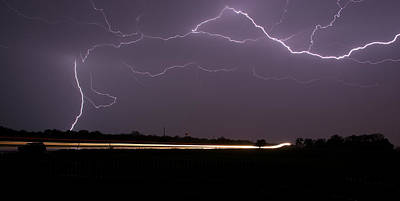 Photograph - Lightening Bolts by Charles Beeler