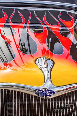 Digital Art - Lightening Fired Ford by Georgianne Giese