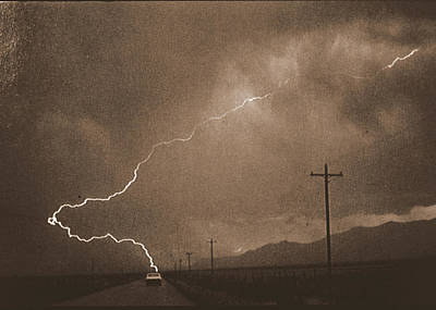 Photograph - Lightening Strike by John Warren