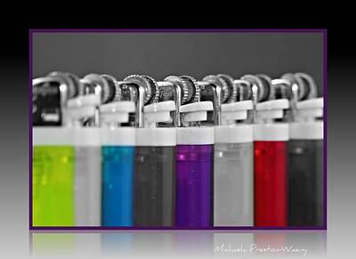 Photograph - Lighters by Michaela Preston