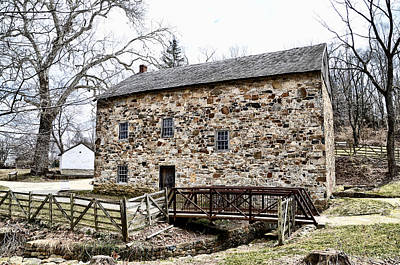 Conestoga Photograph - Lightfoot Mill At Anselma Chester County by Bill Cannon