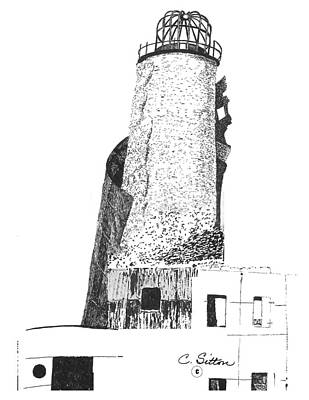 Drawing - Lighthouse 3 by C Sitton