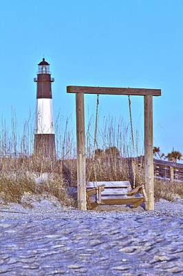 Photograph - Lighthouse And Swing by Gordon Elwell