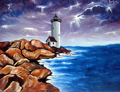 Jimerson Painting - Lighthouse by Annette Jimerson