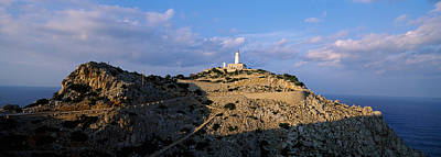 Mallorca Photograph - Lighthouse At A Seaside, Majorca, Spain by Panoramic Images