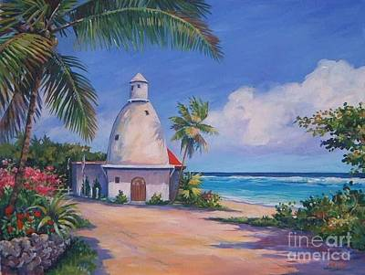 Caribbean Sea Painting - Lighthouse At Breakers by John Clark