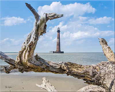 Photograph - Lighthouse At Folly Beach by Mike Covington