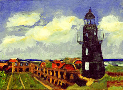 Painting - Lighthouse At Fort Jefferson by Michael Daniels