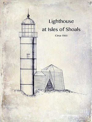 Lighthouse At Isles Of Shoals Art Print