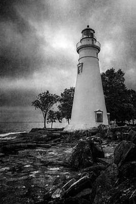 Navigation Digital Art - Lighthouse At Marblehead by Dale Kincaid