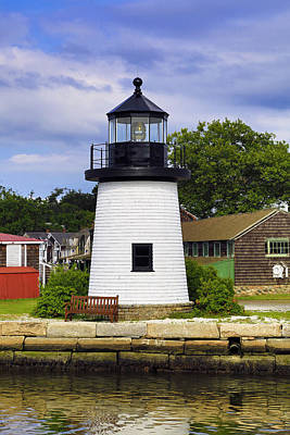 Lighthouse At Mystic Seaport Art Print