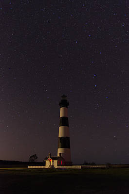 Art Print featuring the photograph Lighthouse At Night by Gregg Southard