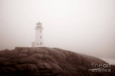 Brown Tones Photograph - Lighthouse At Peggy's Cove by Jim  Calarese