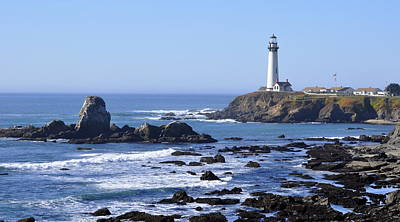 Photograph - Lighthouse At Pigeon Point by AJ  Schibig