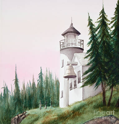 Painting - Lighthouse At Sunrise by Michelle Constantine