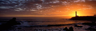 Lighthouse At Sunset, Pigeon Point Art Print
