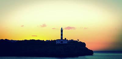 Peaceful Scene Photograph - Lighthouse At Sunset by Wladimir Bulgar
