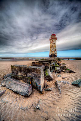 North Wales Photograph - Lighthouse At Talacre  by Adrian Evans