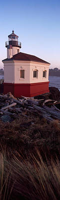 Coquille River Lighthouse Photograph - Lighthouse At The Coast, Coquille River by Panoramic Images