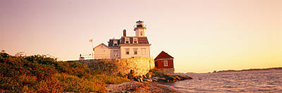 Lighthouse At The Coast, Rose Island Art Print