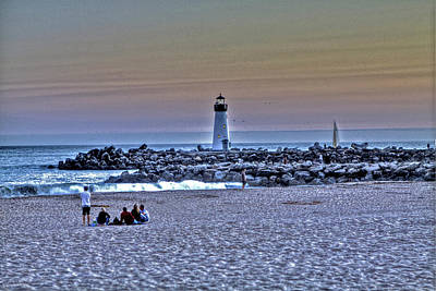 Boat Photograph - Lighthouse At Twlight 2 by SC Heffner