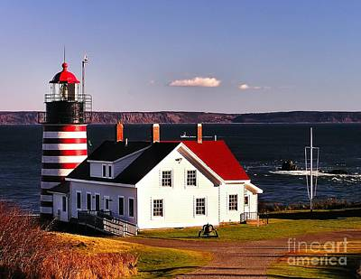 Photograph - Lighthouse At West Quoddy Head by Nick Zelinsky