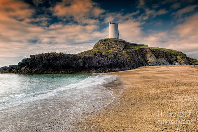 North Wales Digital Art - Lighthouse Beach by Adrian Evans