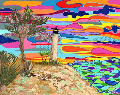 Beach Landscape Mixed Media - Lighthouse Beach by Joan C Fonseca