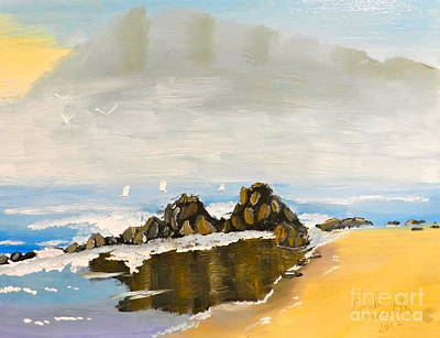 Lighthouse Beach Art Print
