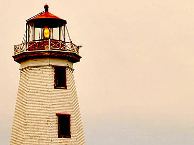 Lighthouse Beam Art Print by Steve Archbold
