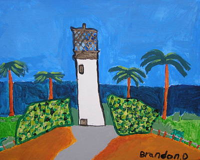 Drucker Painting - Lighthouse by Artists With Autism Inc