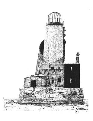 Drawing - Lighthouse by C Sitton