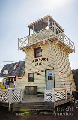 Lighthouse Cafe In North Rustico Art Print by Elena Elisseeva