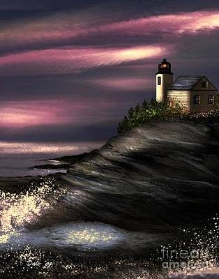Digital Art - Lighthouse by Dale   Ford