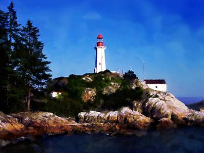 Art Print featuring the digital art Lighthouse by David Blank