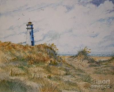 Lighthouse Landscape Art Print by Don Hand