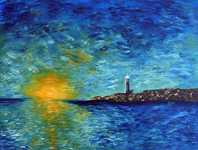 Painting - Lighthouse by Donna Blackhall