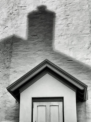 Photograph - Lighthouse Entrance In Shadow by Gary Slawsky