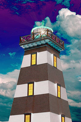 Photograph - Lighthouse Event by WB Johnston