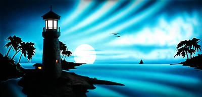 Lighthouse Art Print by Frank Parrish