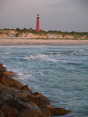 Lighthouse From The Jetty 2 Art Print