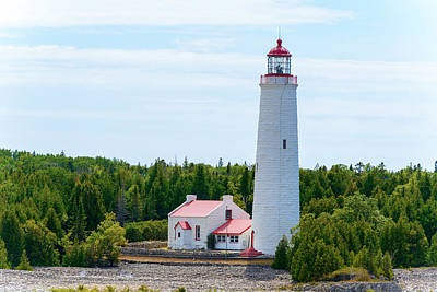 Photograph - Lighthouse Georgian Bay Ontario Canada by Marek Poplawski