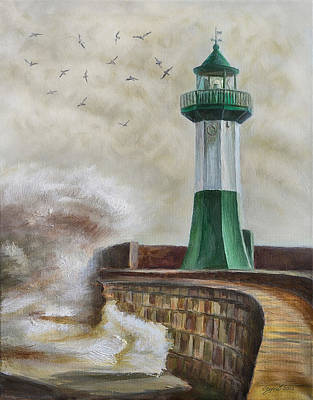 Painting - Lighthouse by Gynt Art