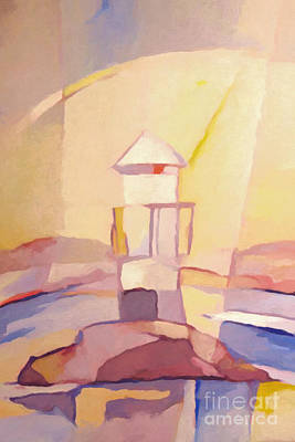 Abstractions Painting - Lighthouse Impression by Lutz Baar
