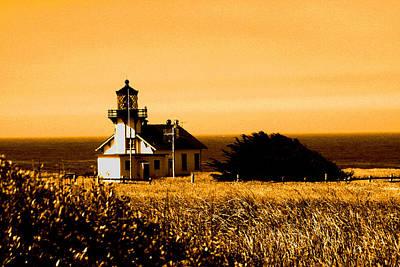 Lighthouse In Autumn Art Print