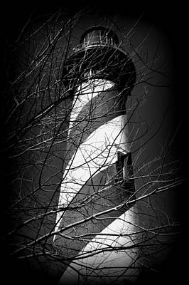 Photograph - Lighthouse In Bw by Sheri McLeroy