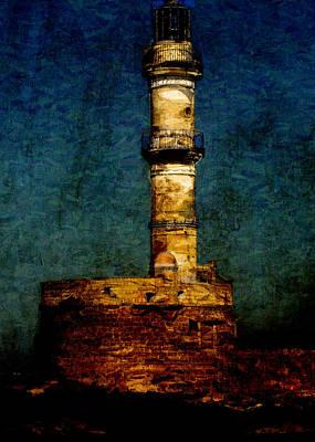 Crete Digital Art - Lighthouse In Chania by Sarah Vernon